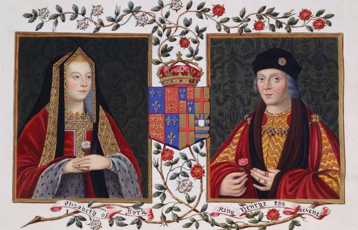 Портрет Елизаветы Йоркской и Генриха VII.